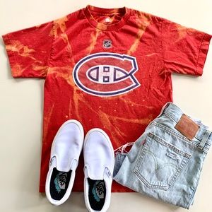 Montreal Canadians Reverse Dye Hockey Tee